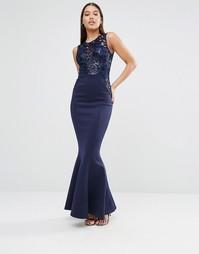 Платье макси с пайетками на лифе Michelle Keegan Loves Lipsy
