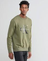 Свитшот цвета хаки в стиле 90-х Calvin Klein Jeans - Хаки