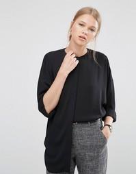Oversize-блузка с рукавами летучая мышь ASOS - Черный