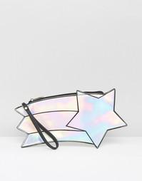 Голографический клатч в форме падающей звезды Daisy Street