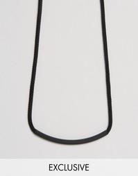 Черное ожерелье в виде цепочки с планкой Designb - Черный