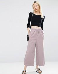 Широкие вельветовые брюки пыльно-розового цвета ASOS - Пыльно-розовый