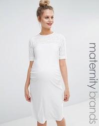 Облегающее платье для беременных Bluebelle Maternity - Кремовый