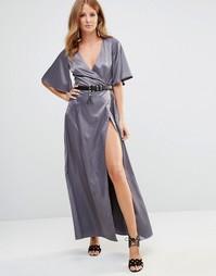 Платье с запахом Millie Mackintosh - Серебряный