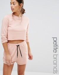 Укороченный комбинируемый свитшот Missguided Petite - Розовый