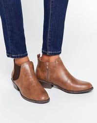 Светло-коричневые ботинки челси Head Over Heels By Dune Piro - Рыжий