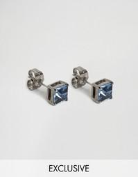 Серьги-гвоздики с кристаллом Swarovski Simon Carter Montana эксклюзивн