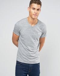 Серая футболка слим с V‑образным вырезом Abercrombie & Fitch - Серый