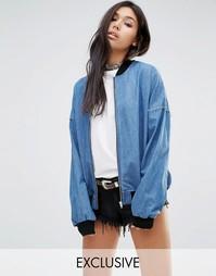 Свободная куртка-пилот в винтажном стиле Milk It Vintage - Синий