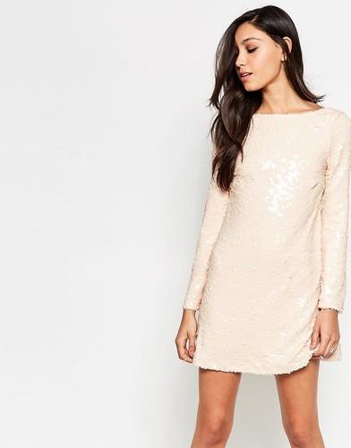 Платье с пайетками Motel Damitri - Античный золотой