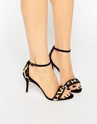 Леопардовые сандалии с эффектом ворса Dune Maria - Леопард и пони