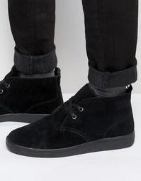 Черные замшевые ботинки чукка на подкладке Borg от Bellfield - Черный