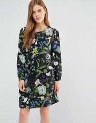 Платье с принтом Yumi