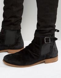 Замшевые ботинки на молнии Dune Casper - Черный