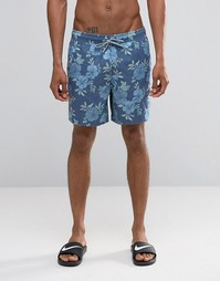 Шорты для плавания с цветочным принтом Hollister - Синий