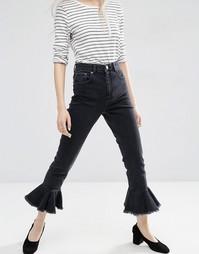 Черные выбеленные джинсы в винтажном стиле ASOS FARLEIGH