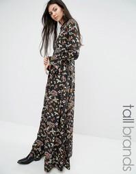 Платье макси на пуговицах с цветочным принтом Glamorous Tall - Мульти