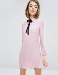 Платье-рубашка с завязкой у воротника Fashion Union - Пыльно-лиловый
