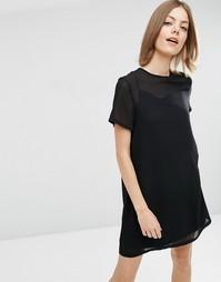 Цельнокройное платье ASOS - Черный