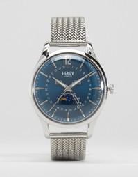 Часы с окошками даты и лунных фаз Henry London Knightsbridge