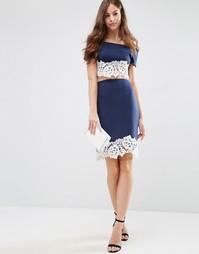 Трикотажная юбка-карандаш с кружевом по краю Jessica Wright