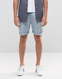 Синие узкие шорты чиносы ASOS - Slate