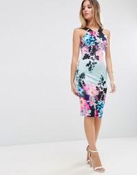 Платье миди с цветочным принтом и ремешками Jessica Wright - Мульти