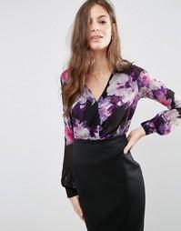 Блузка с длинными рукавами и цветочным принтом Jessica Wright - Мульти
