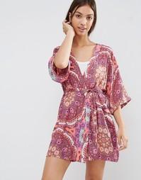 Minkpink Psychadelia Dressing Gown - Розовый