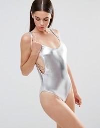 Слитный купальник Missguided - Серебряный