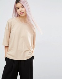 Свободная футболка Monki - Телесный