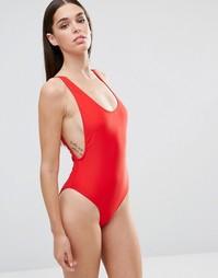 Слитный купальник Missguided - Красный