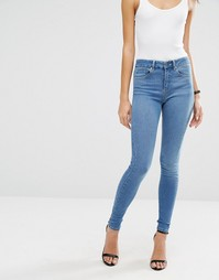 ASOS SCULPT ME High Rise Premium Jeans in Jecca Pretty Mid Blue