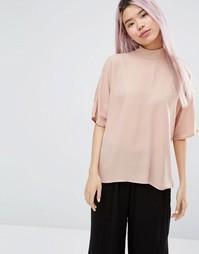 Блузка с молнией на спине Monki - Телесный