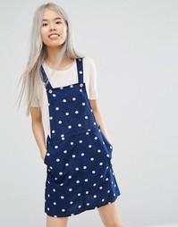 Платье-комбинезон Monki - Ткань в горошек