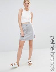 Эксклюзивная юбка Missguided Petite - Серый