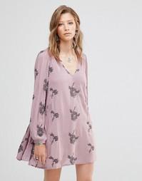 Платье Free People Emma Elderberry - Elderberry combo