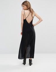 Платье-сорочка с завязкой Free People - Черный
