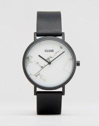 Часы с черным ремешком и мраморным циферблатом Cluse La Roche CL40002