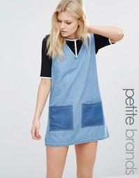 Джинсовое платье в стиле пэтчворк Liquor & Poker Petite