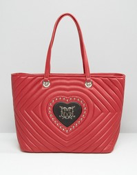 Стеганая сумка с сердечком Love Moschino - Ner