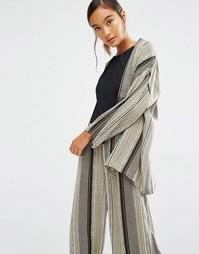 Куртка-кимоно с принтом First & I - Оливковый с принтом