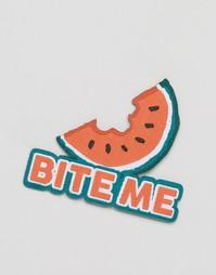 Нашивка с надписью Bite Me Ohh Deer - Мульти