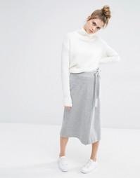 Трикотажная юбка Sportmax Code Palpati - Умеренный серый