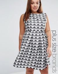 Короткое приталенное платье с принтом Praslin Plus
