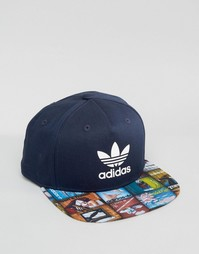 Синяя бейсболка adidas Originals AY7856 - Синий