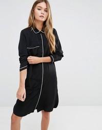 Платье-рубашка для сна Fashion Union - Черный