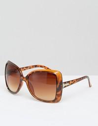 Большие солнцезащитные очки 7X - Черепаховый