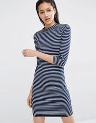 Облегающее платье в полоску Just Female - Синий