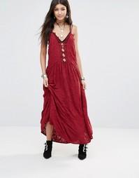 Кружевное платье Free People Legendary Love - Красный